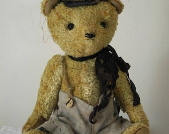 OOAK artist bear, teddy bear, unique, ERNEST