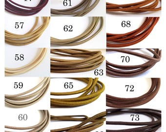 Shades of Brown and Beige - US Seller - Mix n Match Colors - 2mm Japanese Elastic Cord - traveler's notebooks size