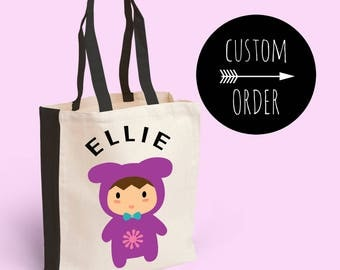 Custom Tote Bag  -  Baby Changing Bag - Baby Shower Gift - Personalised Tote Bag - Customised Tote Bag
