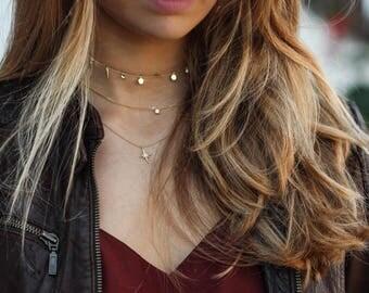 choker necklace - chain choker necklace -  sterling silver choker necklace - choker with charms - gold choker - BELLE CHOKER