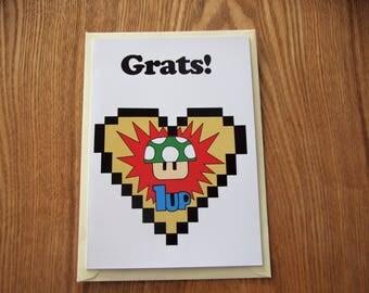 Grats Mario Birthday Card