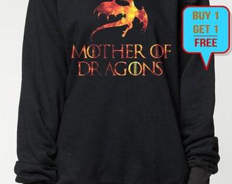 Mother of Dragons sweatshirt game of thrones sweater quote shirt women men shirt tshirt long sleeve jumper tee tshirt fire