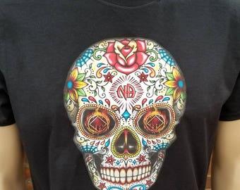 NA - SUGAR SKULL 1 - T-shirt - S-4X  - 100% cotton.  Free Shipping