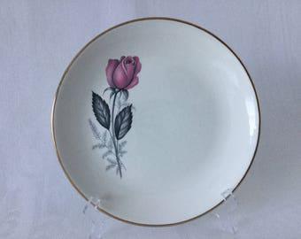 Vintage Swinnertons Staffordshire China Side Plate Nestor Vellum - Pink Rose - Replacement China 1950's  #00173