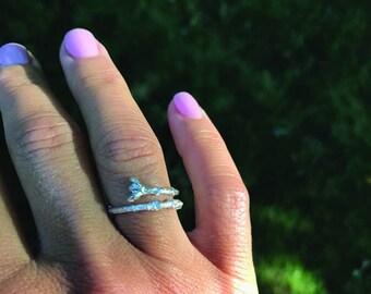 Sterling Silver Twig Rings, Twig Rings, Nature Inspired Rings, Minimalist Rings,Oak Tree Branch Ring, Delicate Rings, Twigs, Organic Rings