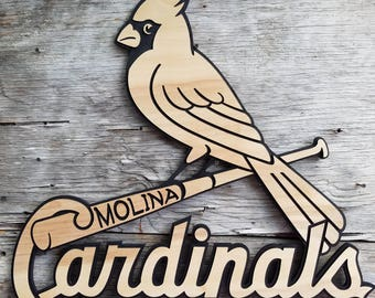 Saint Louis Cardinals Wooden Baseball Sign MLB Decor