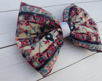 Boho Hair Bow | Navy | Light Blue | Pink | Ivory | Blush | Hippie Hair bows | Hairbows | Hair Bows | Bohemian Headbands | Headband | Clip