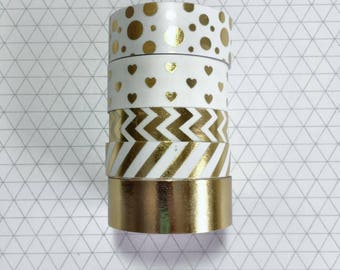 "Gold Foil - Michaels Recollections - 24"" Washi Samples"
