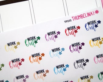 Work Out Script Planner Stickers (TP231)