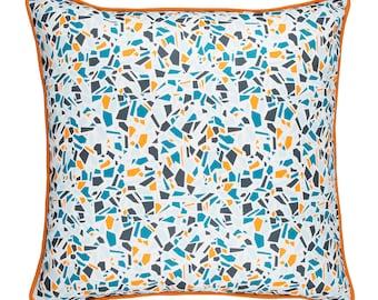 Terrazzo Cushion in Blue