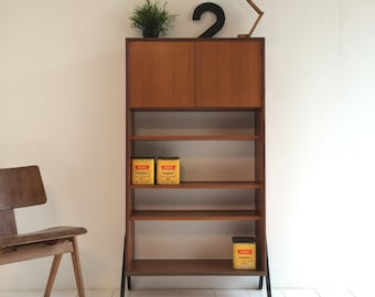 Vintage Display Shelving Cabinet - 1960s Danish / Italian Influence Retro