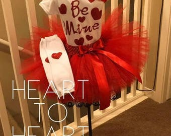 Red tutu, Valentines tutu outfit set, Be mine valentines day outfit, valentines tutu, tutu dress, girls outfit set, holiday tutu