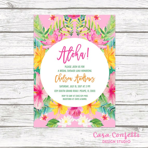 Tropical bridal shower invitation luau bridal shower invitation il570xn filmwisefo