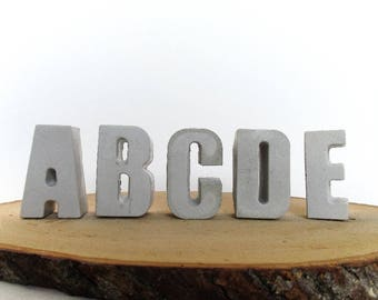 Concrete letters - Cement letters - Concrete decor - Concrete alphabet - Letters decor - Concrete decorations - Minimalist decor - Wedding