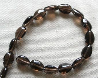 Smoky Quartz Teardrop Beads - AA Grade