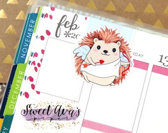Magnetic Bookmark - Valentine's Day Gift - Hedgehog Magnetic Bookmark - Cupid Magnetic Bookmark - Book Accessories - Planner Accessories