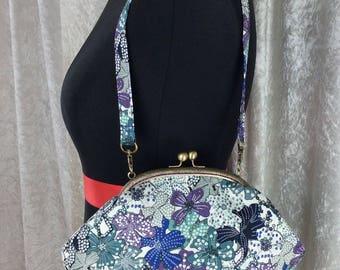 Mauvey Flowers Grace frame handbag clutch purse bag handmade in England