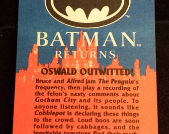 "Vintage 1992 Topps Batman Returns Trading Card, ""Oswald Outwitted!"" #61"