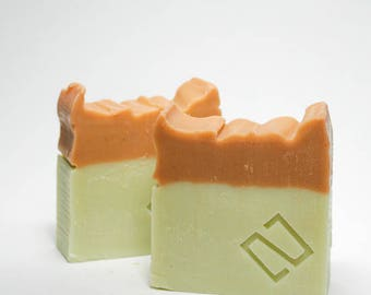 Orange & Cedarwood Soap, handmade soap, orange soap, castor oil, soothing soap, protecting soap, moisturizing, cruelty free,