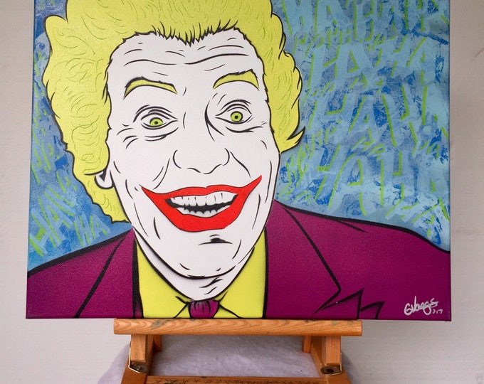 Featured listing image: Vintage Joker Spray Painting - Summer Sale