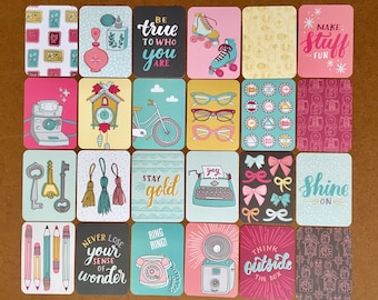 KNICK KNACK Edition - 50 Cards - Becky Higgins Project Life Core Kit (PARTIAL Kit) by Kristin Nohe Juchs - 3x4 Journaling Cards/Pocket Cards