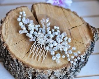 Wedding hair comb Bridal hair accessories Crystal hair comb Bridal headpiece Pearl hair comb Bridal hairpiece Wedding comb crystal