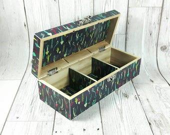 Personalised Cactus Jewellery Box, Succulents and Cacti, Cactus Gift, Keepsake Box, Trinket Box, Jewelry Box, Christmas, Free Gift Wrapping!