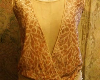 1920's Embossed Velvet Flapper Dress