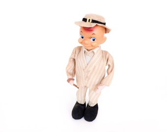 Vintage Japan SM Pose Doll World's Friend Poseable Man with Cane