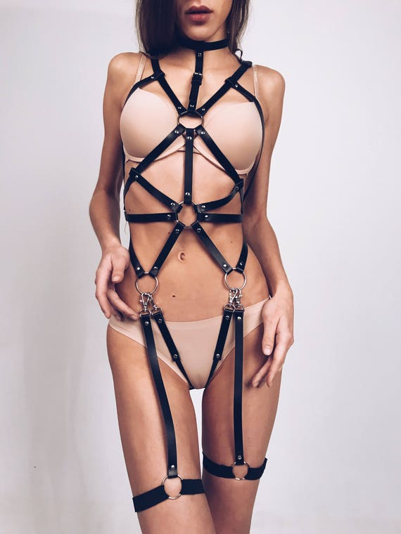women sexual body harness