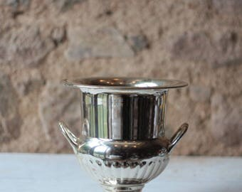 Vintage French Chrome Champagne Bucket