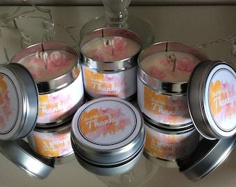 Handpoured Thankyou organic soy wax tin candle