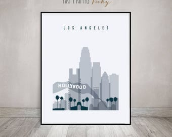 Los Angeles art print, Poster, Travel Wall art, Los Angeles California skyline, City poster Typography art, Home Decor, Gift ArtPrintsVicky
