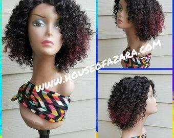 READY TO SHIP: Deep Wave 100% Virgin Brazilian Hair, Full Wig with Closure, 1B/99J