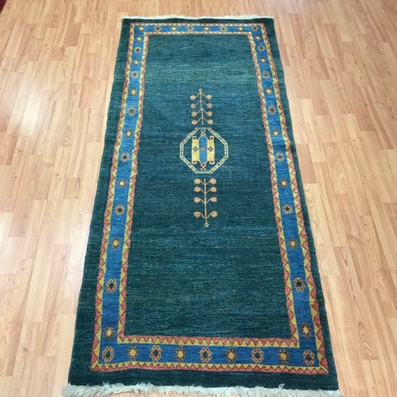 "2'10"" x 6'5"" Persian Gabbeh Floor Runner Oriental Rug - Hand Made - 100% Wool"