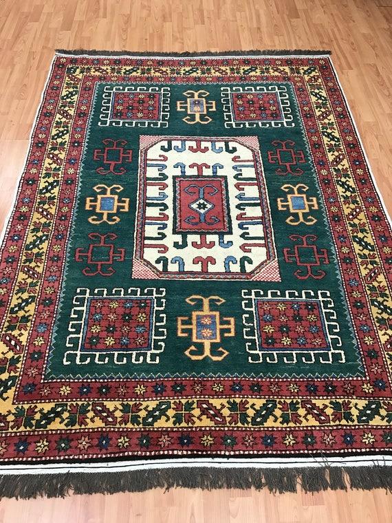 "4'8"" x 6'3"" Afghan Karghai Oriental Rug - Hand Made - 100% Wool"