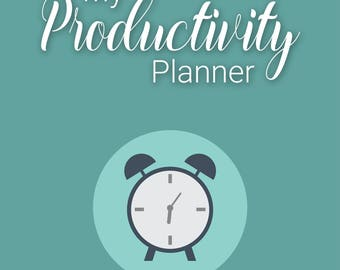 Daily Productivity Planner Bullet Journal - Printable PDF Instant Download - Goal Tracker - Diary - Success Planner - 366 pages
