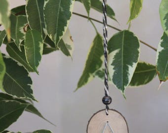 Wooden Slice with Tree Decoration