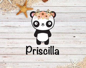 Priscilla Panda Die Cut