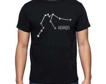 Aquarius Constellation t shirt, aquarius gift, aquarius tshirt, aquarius zodiac sign, aquarius astrological shirt, january february birthday