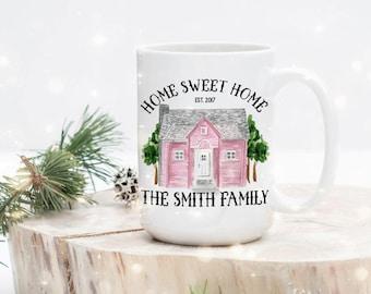 New Home Mug - Home Owner Mug - Housewarming Mugs - Housewarming Present - Homeowner Gift - Gift for Host Family - Hostess Gift