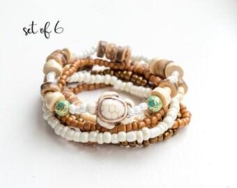 Stacking Bracelet Set Stretch Bracelet Set Boho Bracelet Set Beach Bracelet African Bracelet Beachy Bracelet Stretchy Bracelets Hippie