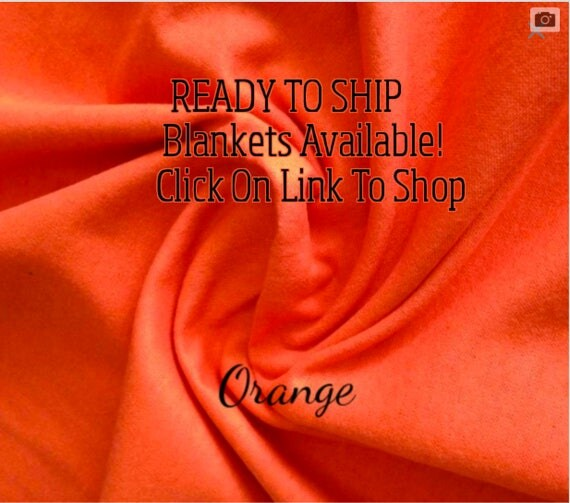 Solid Color, Weighted Blanket, Orange, Up to Twin Size 3 to 15 Pounds.  SPD, Autism, Weighted Blanket.