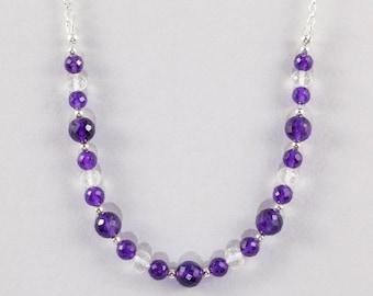 Amethyst and Crystal Quartz Necklace
