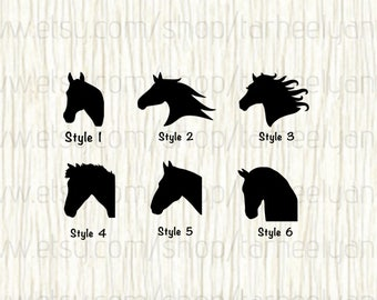 Horse Car Decal, Horse Decal, Horse Head Car Decal, Horseshoe Decal, Horseback Riding Decal, Horse Show Car Decal, Thoroughbred Decal