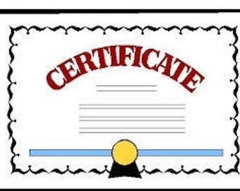 Certificate for the Gemstone and Diamond