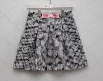 Pleated Ginham child skirt
