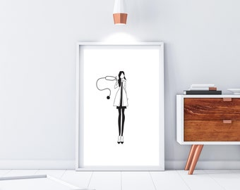 Medical Art Print - Gift for Doctor - Rn Gift - Nurse Graduation - Medicine Art - Medical Student Gift - Nursing Student Gift - Medicine
