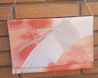 Kimono Clutch Bag / Japanese Hand Bag / Obi Clutch Bag / Silk Bag