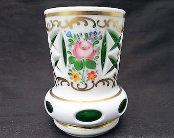 Emerald Art Glass bohemian art glass | etsy
